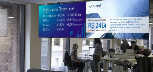 TV Corporativa no escritório